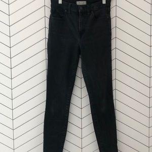 "Madewell skinny jeans 9"" high-riser lunar wash"
